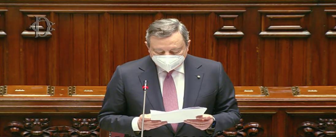 Presidenza del Consiglio – Recovery: Draghi in Parlamento: 'Disponiamo di 248 miliardi.