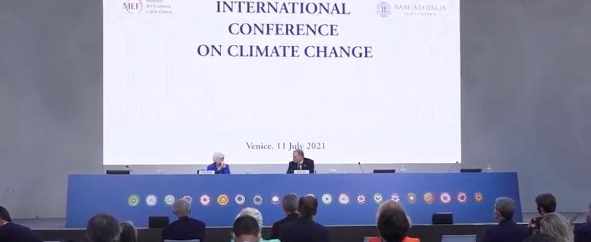 BANCA D'ITALIA  E MEF – CONFERENZA INTERNAZIONALE SUL CAMBIAMENTO CLIMATICO